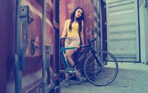 bike on cargo area by petruslingga