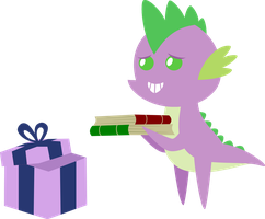 25 Days of Christmas Ponies- Day 21 Spike by V0JELLY