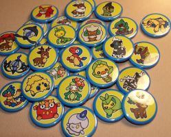Pokedoll BADGES by PlushOwl