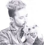 Bill Kaulitz with Pumba - Tokio Hotel Fanart by Aprizona