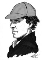 Commission Drive 2015--Sherlock (Cumberbatch) by tedwoodsart