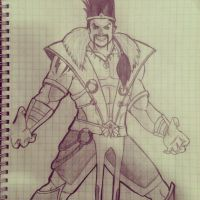 Draven does it all... With style! by EndeavourHL