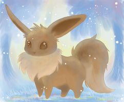Eevee in the Forest by Strange-Rabbit