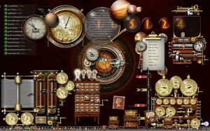 My Current Steampunk Desktop by yereverluvinuncleber