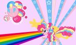 Pinkie Pie Rainbow Wall by Evilarticfox