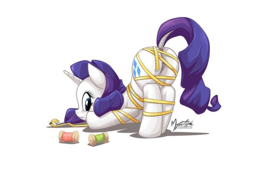 Rarity Tied by mysticalpha