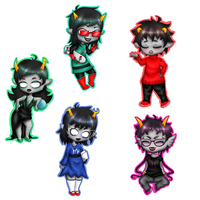Homestuck Update Chibies by Lea-bea