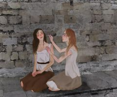 Eponine and Azelma by FlammableWolf