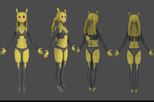 Picachu Girl 3D by SFalkon