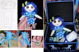 Coraline Plushie Set by supermutts