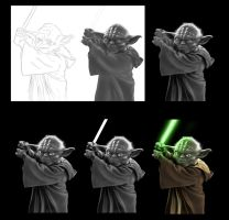 Yoda progress by MrWills