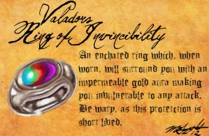 Heretic Artifacts: Valador's Ring of Invincibility by Liamythesh