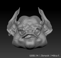 Goblin Bust Zbrush by MikaF
