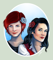 Rose Red and Snow White by tbdoll