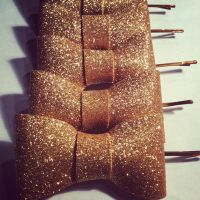 Gold bows!!! by Hairwego13