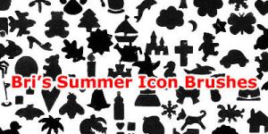 Bri's Summer-Misc Icon Brushes by rabidbribri