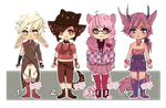 Open: Chibi adoptables {2/4} by Stuffed-orange