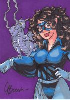 Sketch Card #123 - Shadowcat + Lockheed by destinyhelix