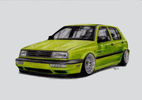 VW Golf III Vento front by Paty47