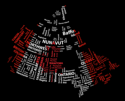Canadian Flag Word Map by heroictoast