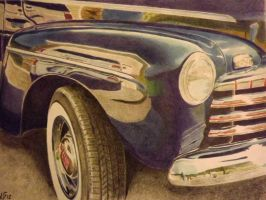 1946 Ford Coupe in Colored Pencils by vapsman88