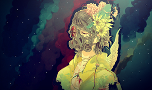 Gas Mask Girl by dOseeN