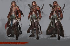 Character Design: Kasim the Crimson Corsair by theDURRRRIAN