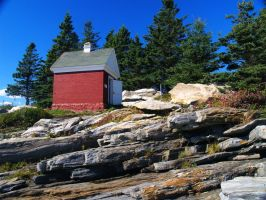 The Oil house at Pemaquid by davincipoppalag