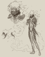 Sketch concepts for Bach by Amo-Zero