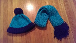 Loom-knit Hat and Scarf - Toddler by Wykked-As-Syn
