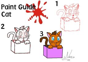 quick paint guide to draw a cat by nenogirlygirl