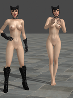 Nude Catwoman! by anorexianevrosa