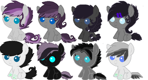 Dream crusher and Moon glitter foals by TheWingedCow121