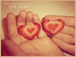 Make one heart of two hearts by Duchesse2
