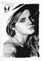 Emma Watson by thoughttrainderailed