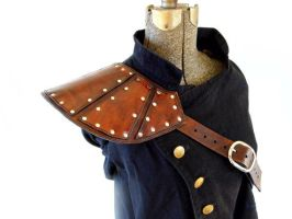 Splinted Leather Pauldron by SteamViking