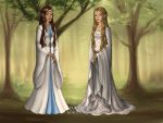 Raina And Alessea Coronation Gowns by HetaliaPossessed