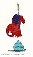 Spiderbabby vs Cookies by fivefootoh