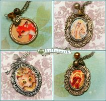 Art Cameo Necklaces 1 by helloheath