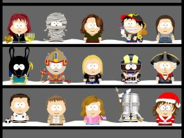 My own South Park characters 5 by Zwerg-im-Bikini