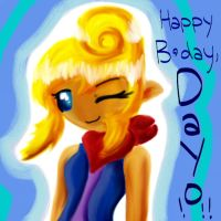 Happy Birthday, Dayo :3 by Ppeacht