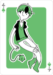 Adventure Time Style Erik - Four of Clovers by catiniata
