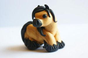 Buckskin little clay pony by crystalcookart