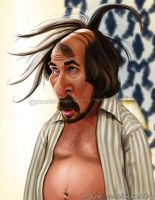 Christian Bale Caricature by Jubhubmubfub