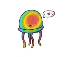 Rainbow Jellyfish by iLeafion