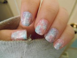 Pastel Galaxy Nails by Ebony-Rose13