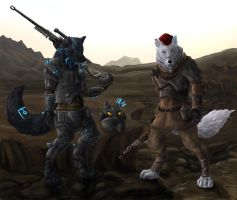 Fallout Wolves by FleetingEmber