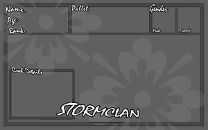 Stormclan App Sheet by collie-rado