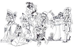 Alice in Wonderland by Foxy-Sketches