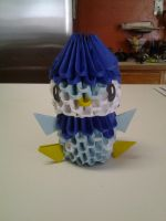 3d origami piplup by Dragon01fan